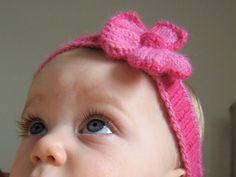 Linda cinta para bebés tejida en dos agujas - IMujer