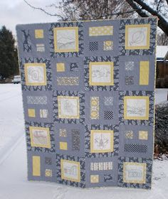 Nancy from Nancy Noodle  made this wonderful quilt in memory of her Uncle. The details that went into all the embroideries is amazing! What ...