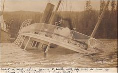 "RP; Shipwreck S.S. ""SPOKANE"" , Seymour Narrows , B.C. , Canada , 00-10s #3;  Winter & Pond Photo postcard"