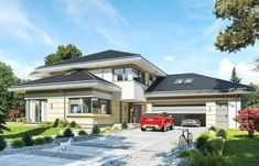 Plans Architecture, Modern House Design, Palazzo, Home Fashion, Custom Homes, Beautiful Homes, Villa, Mansions, Luxury
