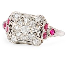 Recipe for Beauty: Diamond Ruby Ring - The Three Graces
