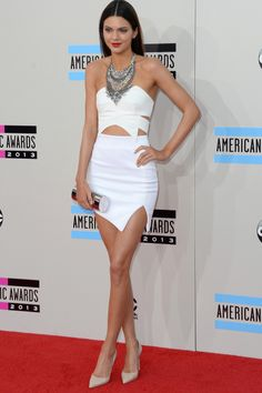 Kendall Jenner. White Sexy Dress