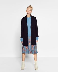 COAT WITH CONCEALED SEAM-Coats-OUTERWEAR-WOMAN | ZARA United States