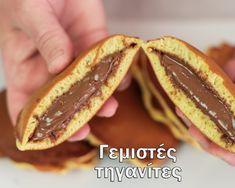 Γεμιστές τηγανίτες (Dorayaki) – foodaholics.gr Hot Dog Buns, Hot Dogs, Tacos, Mexican, Bread, Ethnic Recipes, Food, Youtube, Brot
