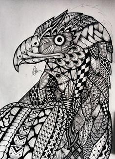 Zentangle Eagle By Lukemac
