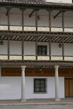 Privileged windows, main square, Tembleque, Spain.