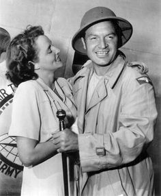 Bob Hope With Wife Dolores on USO Tour