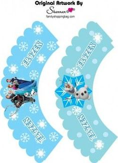 Cupcake Wrappers, Frozen, Favor Box - Free Printable Ideas from Family Shoppingbag.com