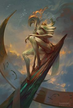 Remph, Angel of Time by Peter Mohrbacher