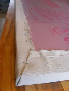 drop cloth and styrofoam art - The Complete Guide to Imperfect Homemaking: Simple, Thrifty DIY Art