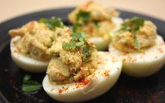 Dieta Dukana :: Jajka faszerowane makrelą :: Przepisy Zasady Efekty Dukan Diet, Mashed Potatoes, Eggs, Breakfast, Ethnic Recipes, Poland, Food, Recipes, Diet