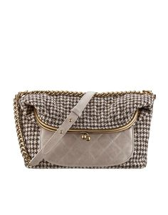 Wool and calfskin flap bag embellished... - CHANEL