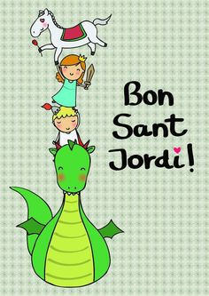 Bon Sant Jordi Baby Shawer, Saint George, Note Paper, Conte, Clipart, Painted Rocks, Bookmarks, Art For Kids, Knight