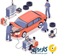 Buy Auto Service Illustration by macrovector on GraphicRiver. Auto service center workers fixing car and changing tyres on white background isometric vector illustration Wheel Alignment And Balancing, Typography Design, Branding Design, Service Auto, Jump A Car Battery, Home Repair Services, Vehicle Inspection, Isometric Design, Workshop Design