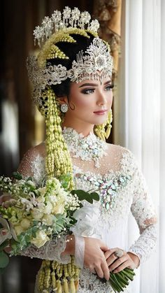 Post Wedding, Wedding Make Up, Dream Wedding, Muslim Wedding Dresses, Bridal Wedding Dresses, Indonesian Wedding, Indonesian Kebaya, Kebaya Wedding, Kebaya Muslim