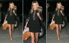 Heidi Klum w czarnej sukience