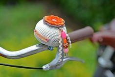 Crocheted bike bell