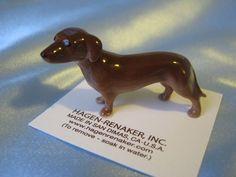 Hagen Renaker Dog Dachshund Figurine Miniature 00347 Porcelain Ceramic New