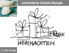 stempel frohe weihnachten 60x20 mm von stempel art auf. Black Bedroom Furniture Sets. Home Design Ideas