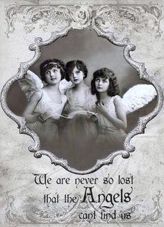 Vintage angels Digital collage p1022 Free to use <3