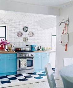 Genius kitchen DIY: Paint Your Kitchen Cabinets. When in doubt, always buy a gallon of paint. Choose a bright color, and paint your cabinets an unexpected shade — it will feel like a total makeover.