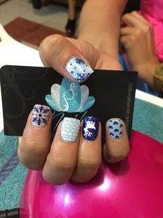 Acrylic nails, nails art, Christmas Nails