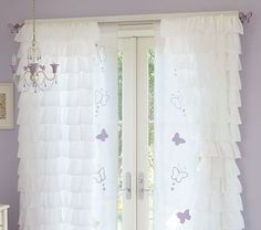 Purple Butterfly Bedroom .. exactly what I want for my daughter! (already have the chandelier!!)