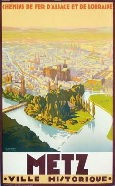 Metz vintage poster by Sonderer R ca. 1920