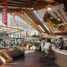 supermarket architecture renders - Google-haku