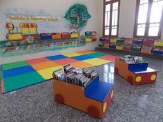 Professora Juce: Muitas ideias para o Cantinho da Leitura na Educação Infantil! Preschool Classroom, Art Classroom, Kids Rugs, Reading, Artwork, Projects, Diy, Home Decor, Peppa Pig