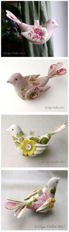 Beautiful fabric birds