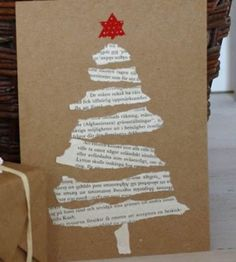 These torn paper tree cards. - Christmas Fun - These torn paper tree cards.