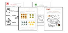 Lots of worksheets for alphabet, numbers, shapes, colors, patterns, more at Kids Learning Station