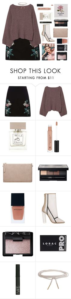 """Untitled #2760"" by tacoxcat ❤ liked on Polyvore featuring Dorothy Perkins, MANGO, Bella Freud, Anastasia Beverly Hills, NARS Cosmetics, Witchery, adidas Originals, LORAC and Humble Chic"