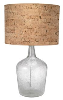 I love the look of this lamp. I love the natural element texture of cork.  I'd need to see the lamp in person to see how the light passes through the shade.