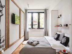 Apartament Granitica Platinium 8, Zakopane - Mała sypialnia małżeńska, styl skandynawski - zdjęcie od www.tatrytop.pl