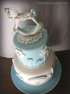 ROSE D' ALBA cake designer cake rocking horse