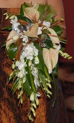 Trailing and Teardrop Bouquets -Auckland wedding flowers -Best Blooms Florists Gerbera Wedding Bouquets, Tropical Wedding Bouquets, Cascading Wedding Bouquets, Bride Bouquets, Wedding Flowers, Tropical Flowers, Tropical Weddings, Trailing Bouquet, Blooms Florist