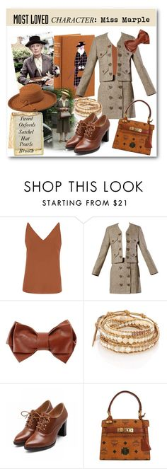 """""""Miss Marple"""" by metter1 ❤ liked on Polyvore featuring Dorothy Perkins, Moschino, Maurizio Pecoraro, Chan Luu, PANTROPIC and MostLovedCharacter"""