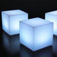 Hatil Furniture Led Cube Seat Lighting Outdoor Popular Design 40cm Glow Polyethylene From