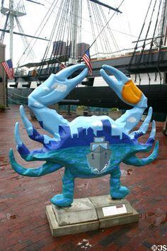 Crab Boats by Access Art. Baltimore Colts, Baltimore Maryland, Miss Maryland, Crab Shack, Public Art, Seashells, Delaware, Shrimp, Seafood