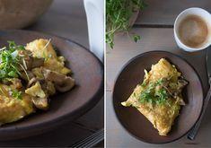 Omelet med svampe