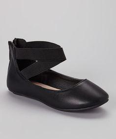 Look at this #zulilyfind! Black Pam Flat by Anna Shoes #zulilyfinds