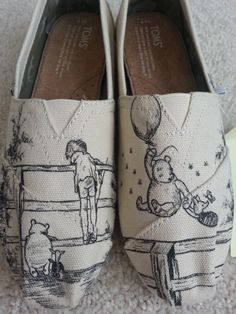 Custom Made Winnie The Pooh Shoes ARTWORK and SHOES INCLUDED on Etsy, $167.13 CAD