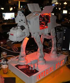 Imperial AT-AT Computer Case Mod - Upgrading would be a bitch though...