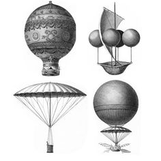Five Etching Styled Vintage Hot Air Balloon Wall Decals    -----and see : http://pinterest.com/pin/33777065928336479/         or  google :   Aerostatic Balloon Wall Sticker   for more good balloons