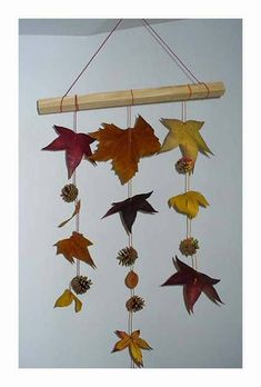 8 ideas for an original autumn decoration – From my hammock Autumn Crafts, Autumn Art, Nature Crafts, Holiday Crafts, Fall Crafts For Toddlers, Toddler Crafts, Diy For Kids, Leaf Crafts, Diy And Crafts