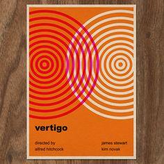 VERTIGO Minimalist Typographic Movie Poster Print