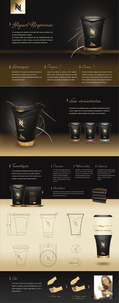 Packaging Yogurt Nespresso by Federico Torres, via Behance Web Design, Graphic Design, Brand Packaging, Packaging Design, Nespresso, Yogurt, Web Colors, Cafe Shop, Web Inspiration