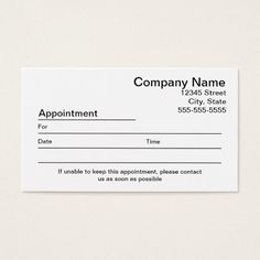 392 Best Appointment Reminder Business Cards Images In 2019